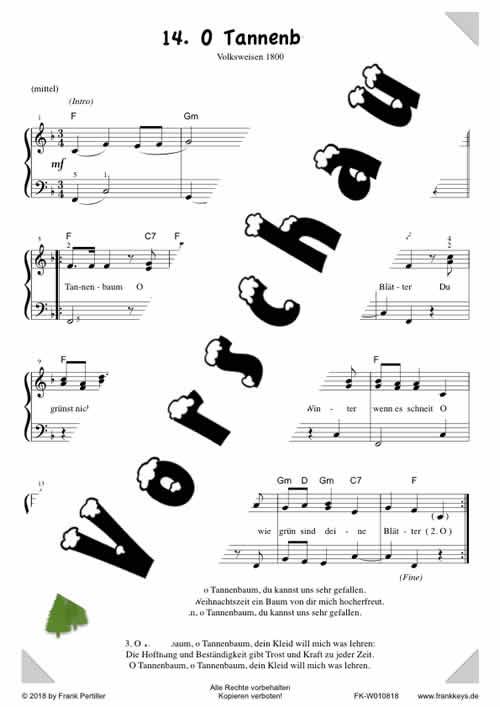 Liedtext O Tannenbaum.14 O Tannenbaum